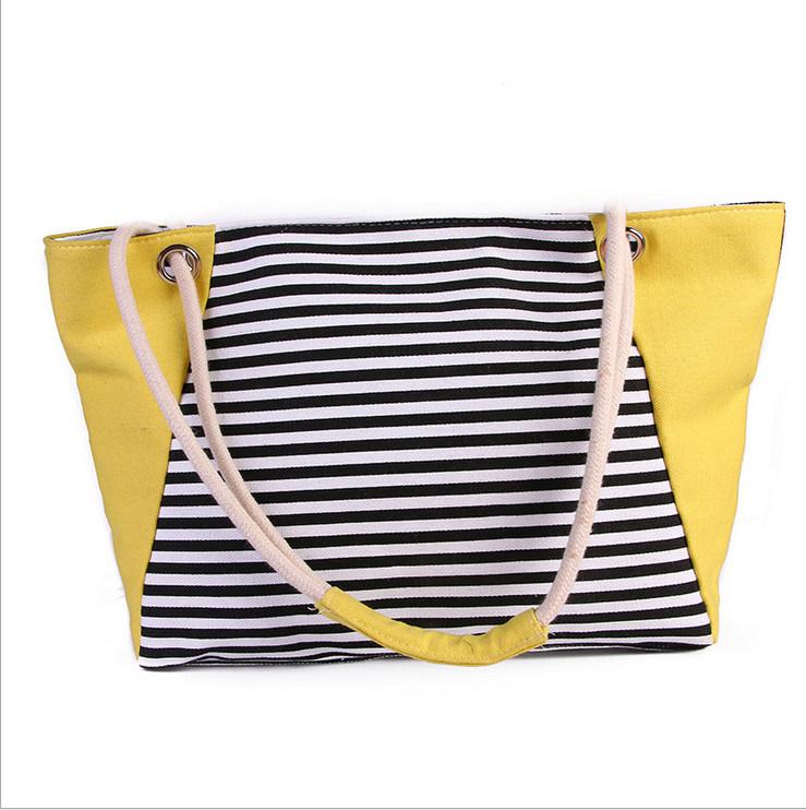 The New Female Bag Summer New Canvas Beach Bag Shopping Bag