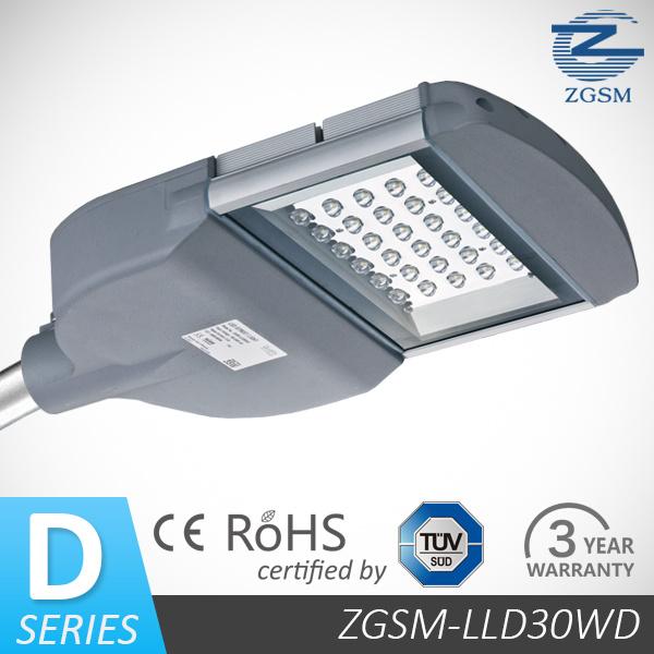 30W LED Street Light CE/RoHS/FCC Meanwell Driver