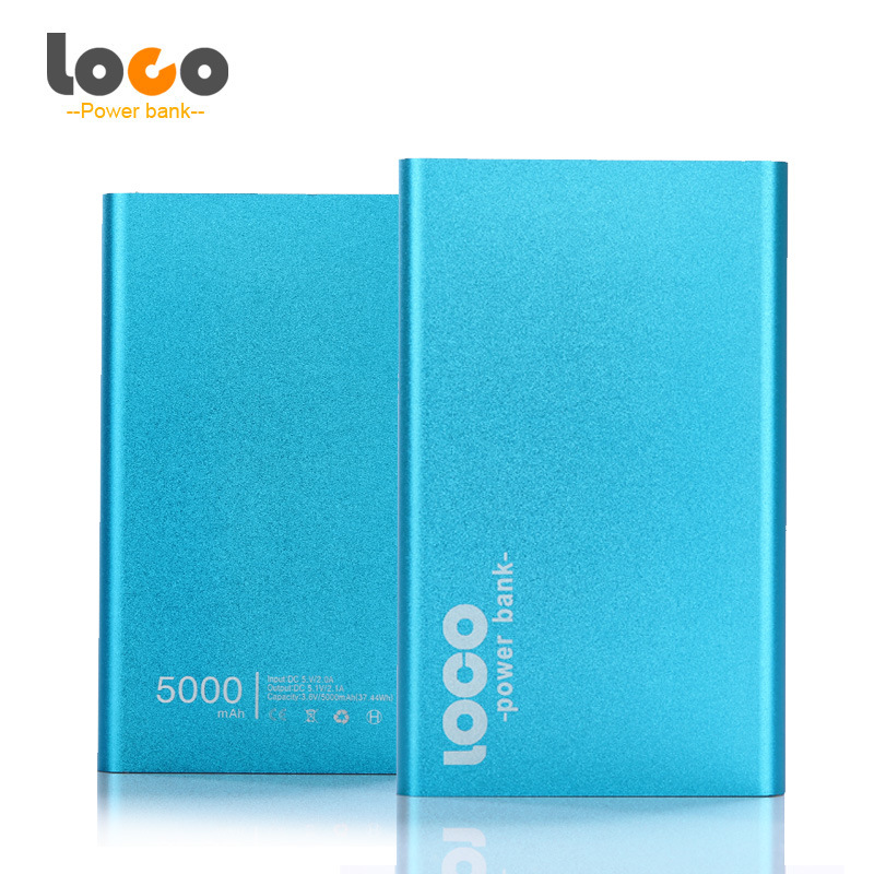 Slim Aluminium Alloy Portable 5000mAh Power Bank for Mobile
