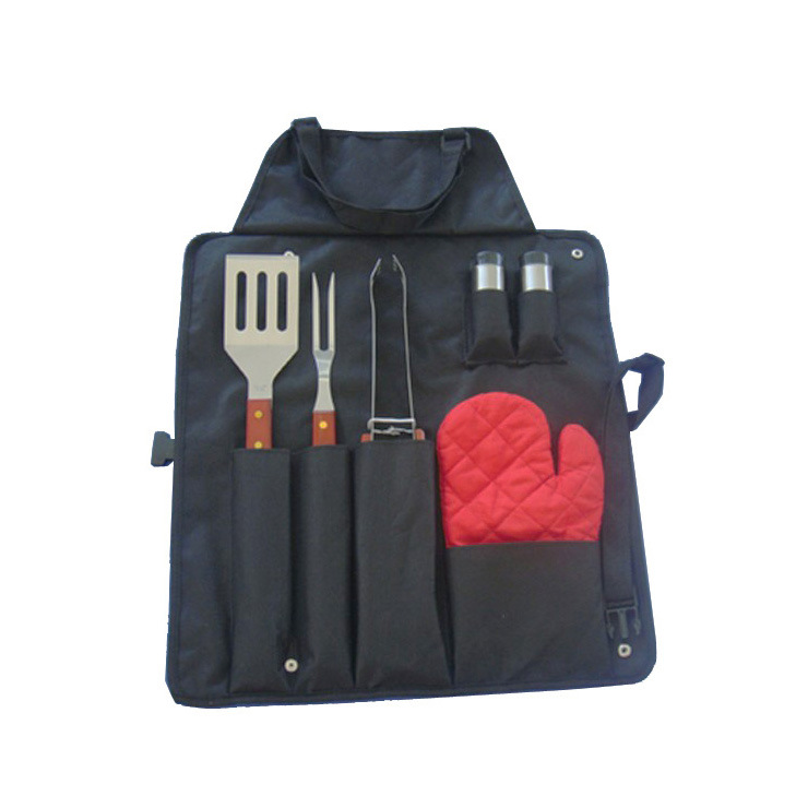 7-Piece Apron Barbeque Set, 7 PCS BBQ Tool with Apron