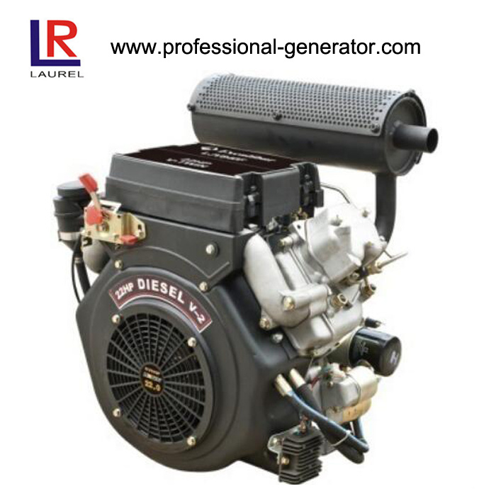 20HP Air Cooled V Twin Diesel Engine