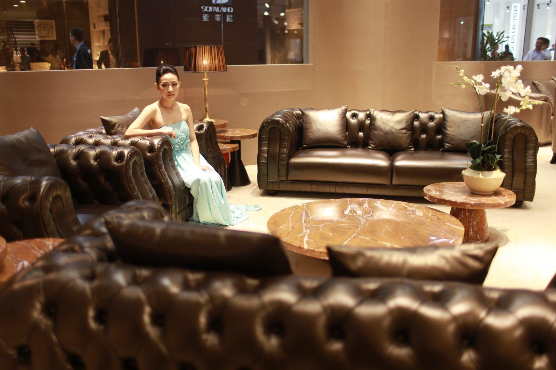 Living Room Modern Furniture Leather Sofa