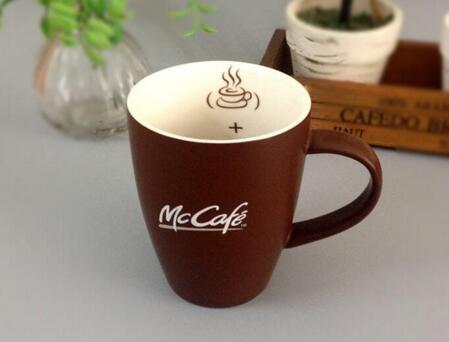 Custom Made Printed 12oz Stoneware Brown Mug for Coffee