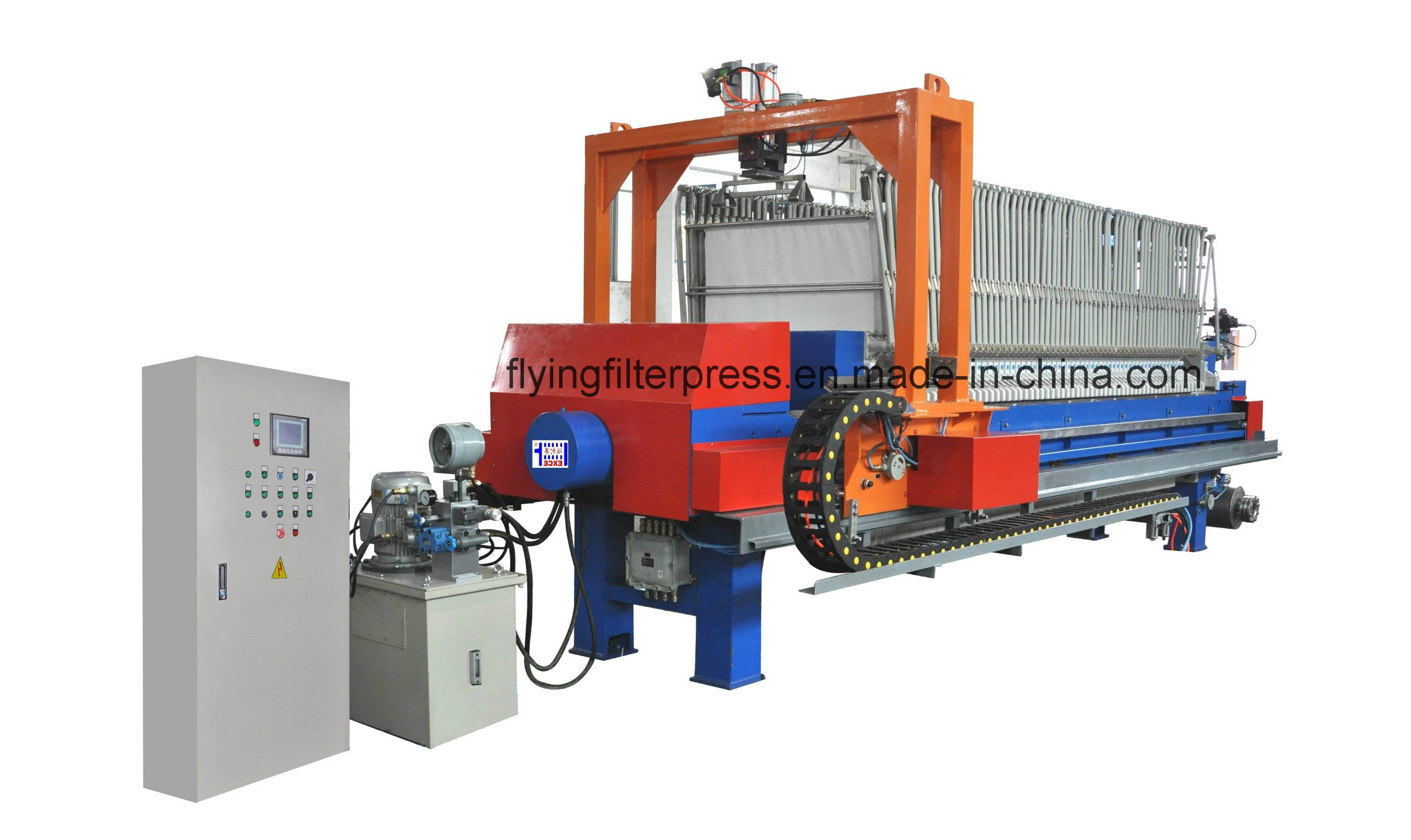 Auto. Filter Press with Cloth Washing and Shaking System