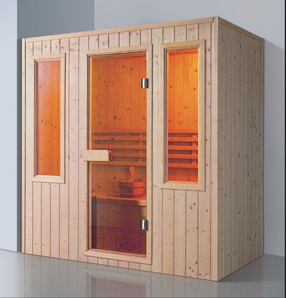 1800mm Rectangle Solid Wood Sauna for 4 Persons (AT-8630)