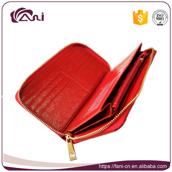 New Shinning Leather Women Mighty Wallet, Zipper Wallet Leather Genuine, Leaf Printed Wallet