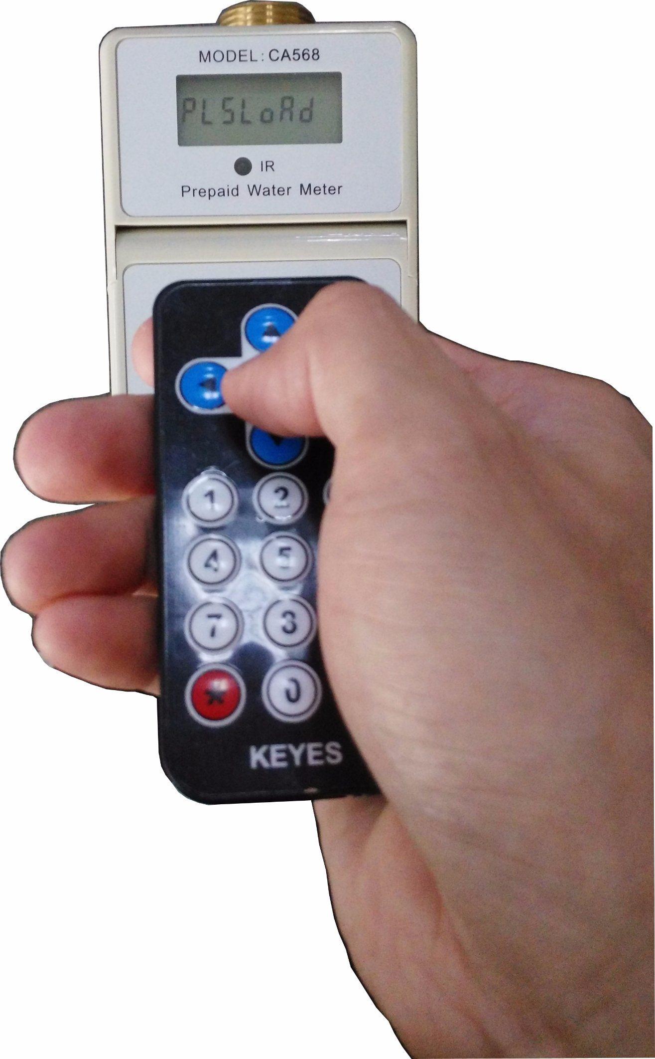 IR Prepaid Water Meters, IP68 Electronic Prepayment Water Meter Easy Install