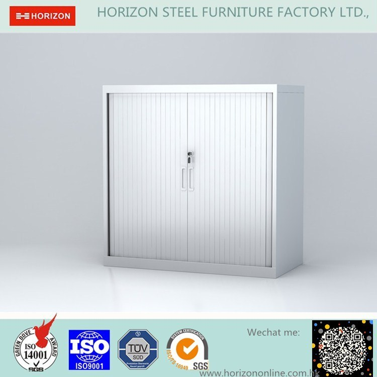 Two Roller Shutter Doors Filing Cabinet Office Furniture with Hidden Plastic Rail and Epoxy Powder Coating Finish/Storage Cabinet