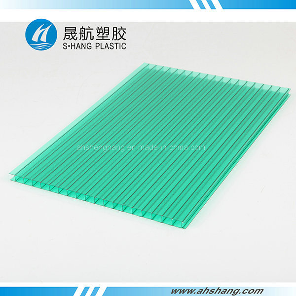Frosted Twin-Wall Polycarbonate Hollow Roofing Sheet with UV Protection