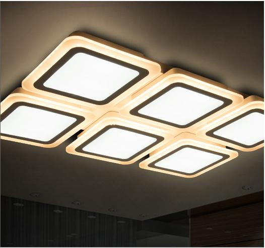 Elegant Square LED Ceiling Lighting Crystal Light for Housing Decorative