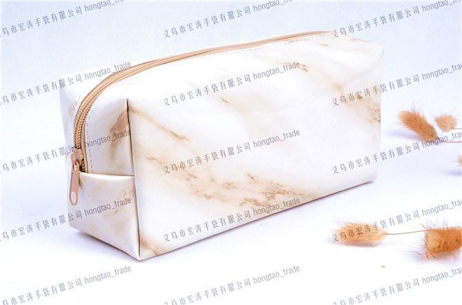Soft PU Transfer Printing Marbling Cuboid Cosmetic