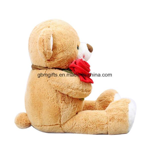 Lovely Teddy Bear Plush Toys with Rose