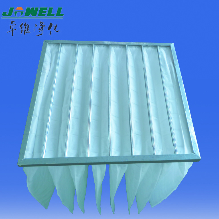 Industrial Synthetic or Fiberglass Pocket Filter