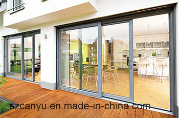 Sliding Window with Aluminum Alloy, Double Glazed Coffee Color Glass