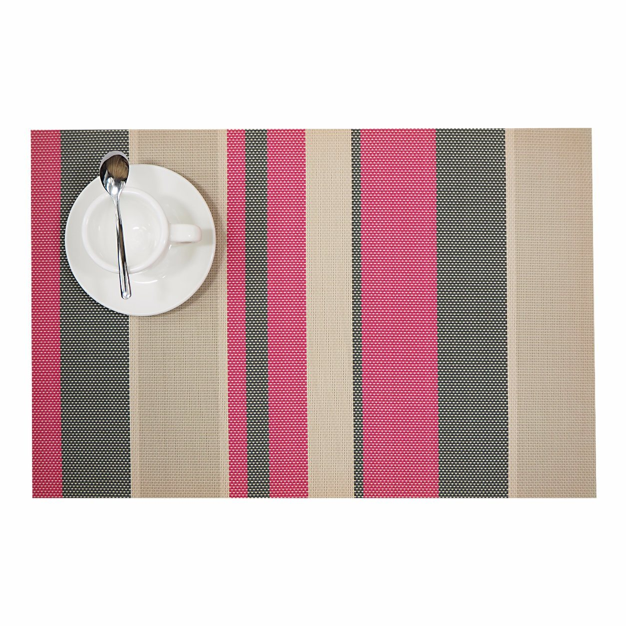 Stripes Promotional PVC Woven Placemat for Home & Restaurant