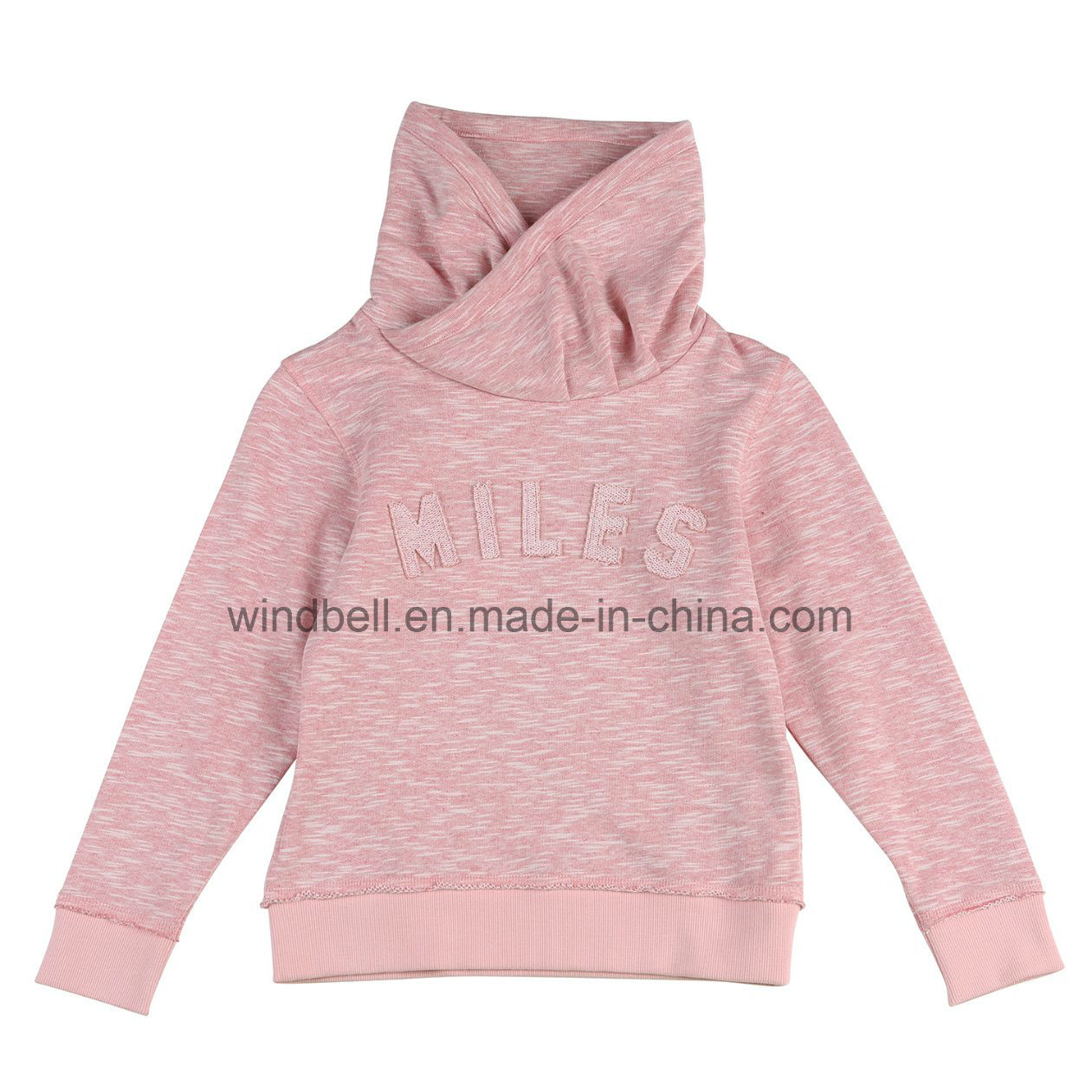 New Style Pullover for Girl with Slub Fabric