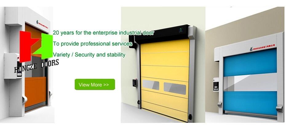 Automatic Industrial High Speed Door Fast Rolling PVC Door (Hz-FC028)