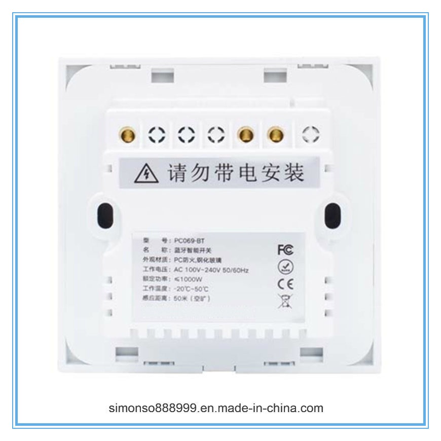 2-Gang Universal Use Remote Control Directly by Bluetooth Switch