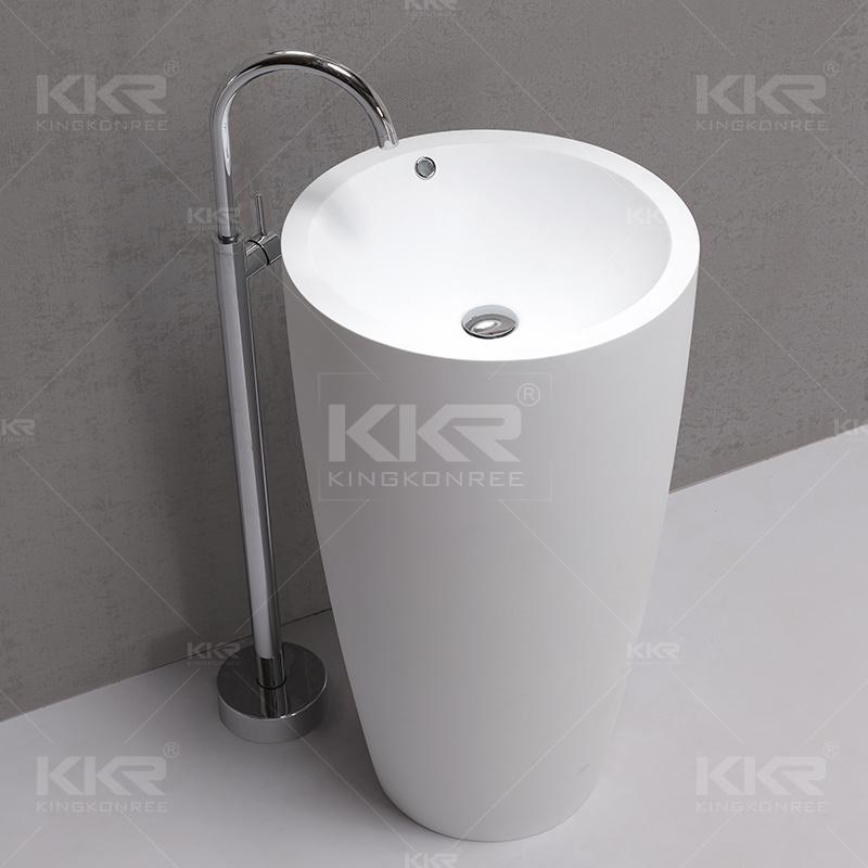 Sanitary Ware Italian Style Solid Surface Floor Standing Bathroom Sinks
