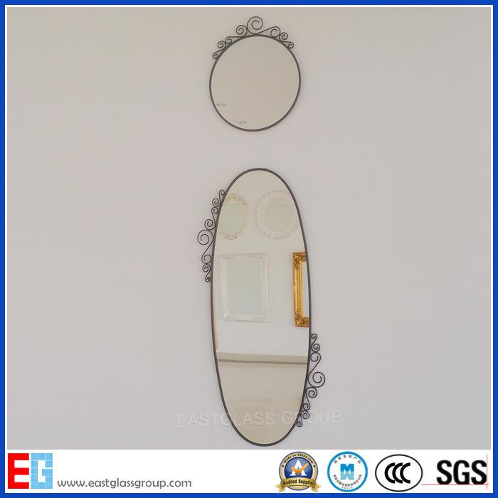 High Clear Silver Dressing Mirror