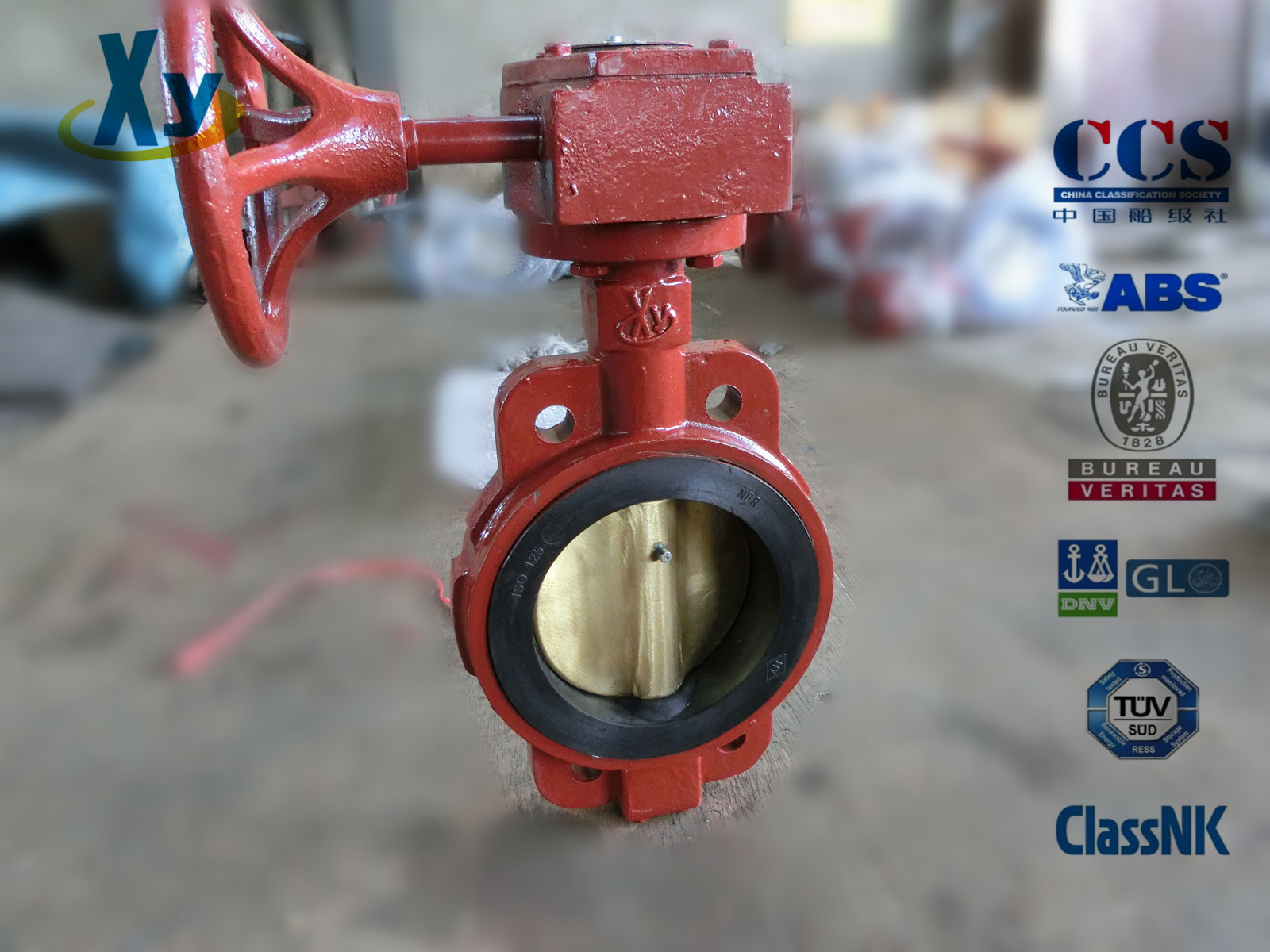 Marine Center Worm Manual Butterfly Valve (Hand Wheel)