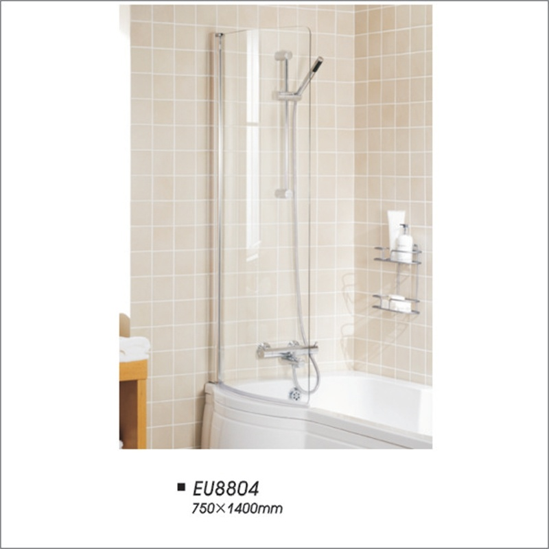 6mm Tempered Glass Partition Folding Bathtub Shower Screen