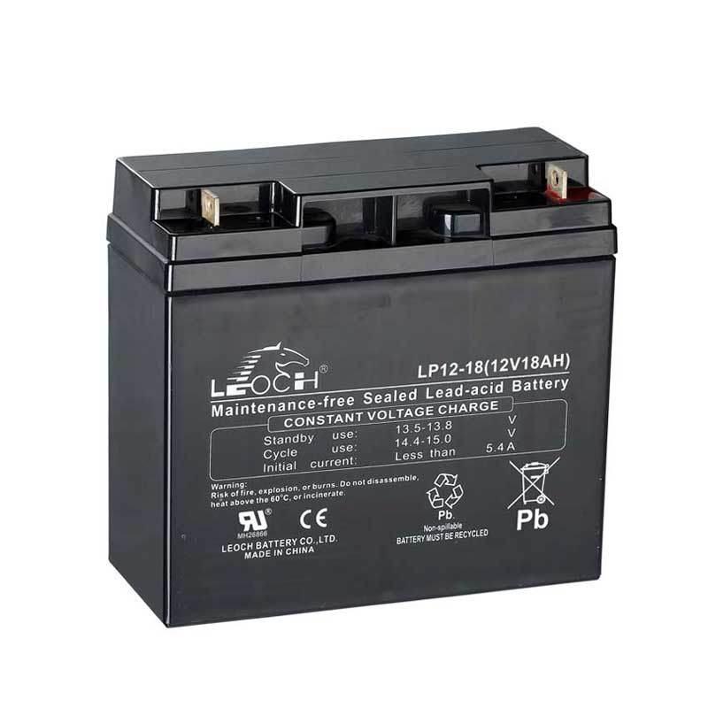 Lp12-18 12V Lead Acid Rechargeable Battery for Emergency Light