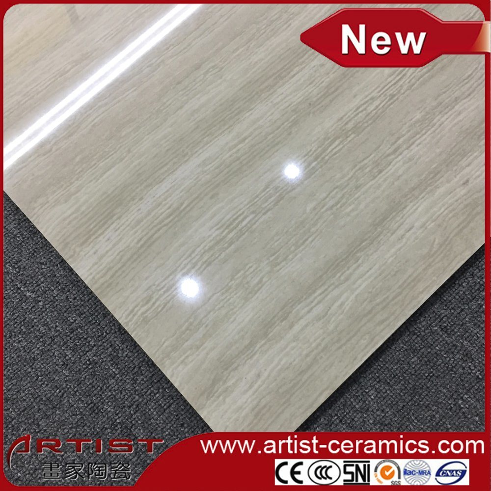 Glossy Nano Polished Line Stone Double Loading Porcelain Floor Tiles