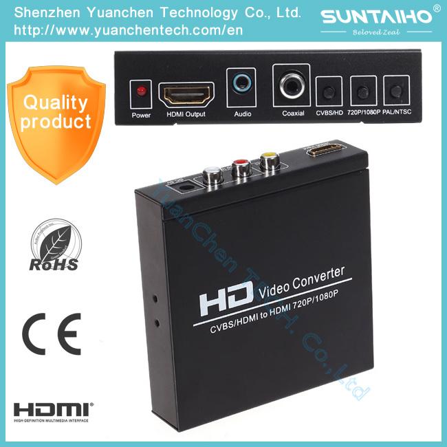 AV+HDMI to HDMI Converter for HD Video