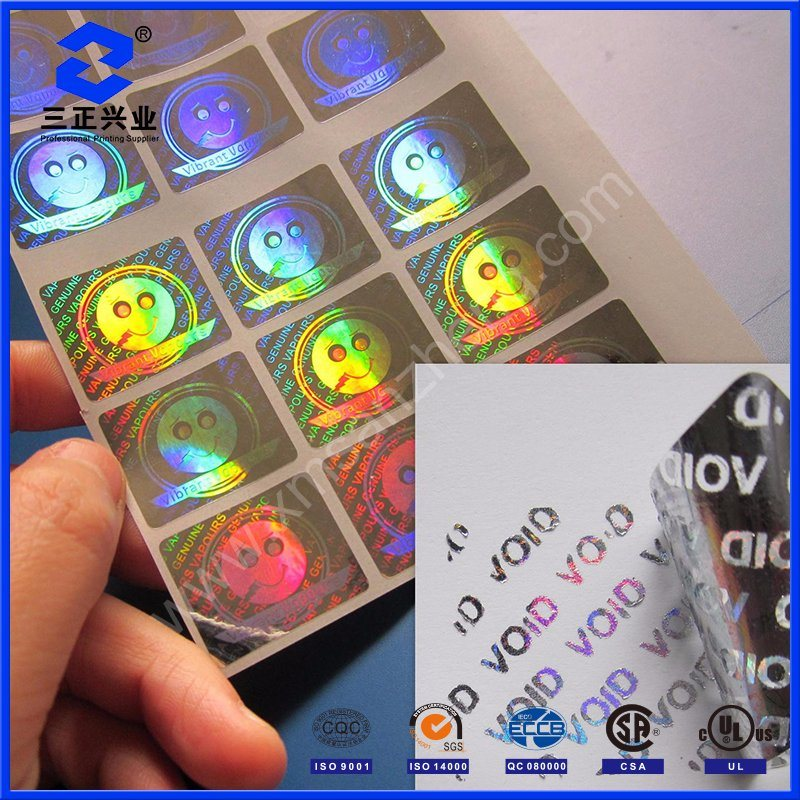 Hologram USB Adhesive Label Stickers Custom Printing with Pet Material (SZXY017)