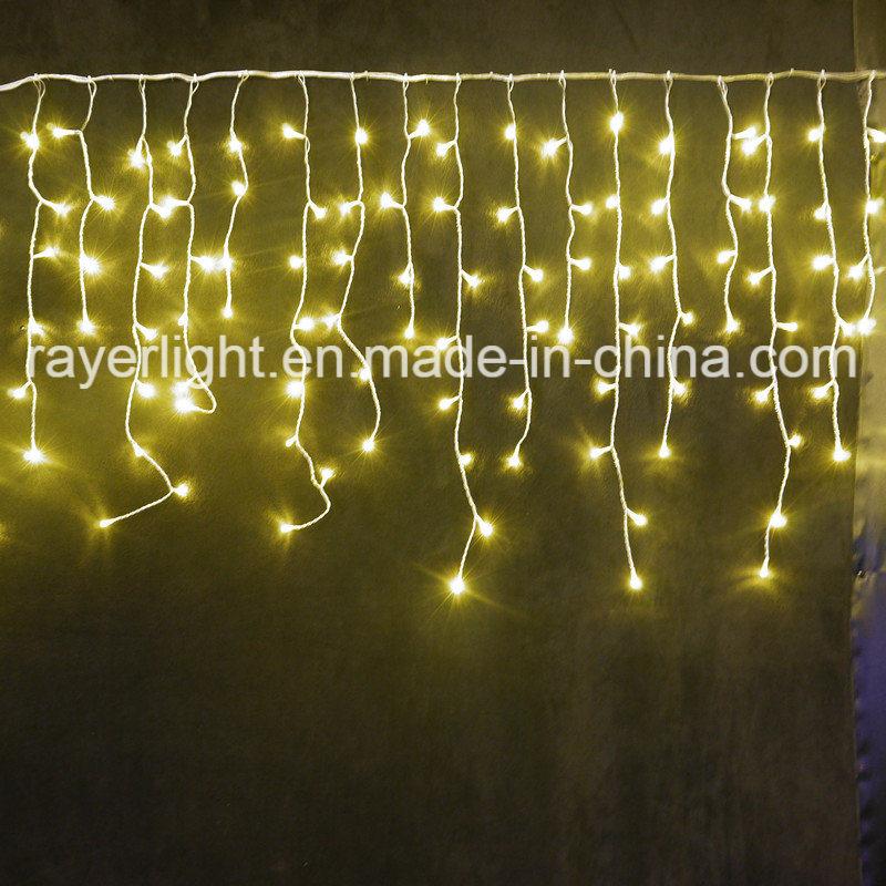 LED Icicle Holiday Light (216 LEDs) for Christmas Wedding Decoration