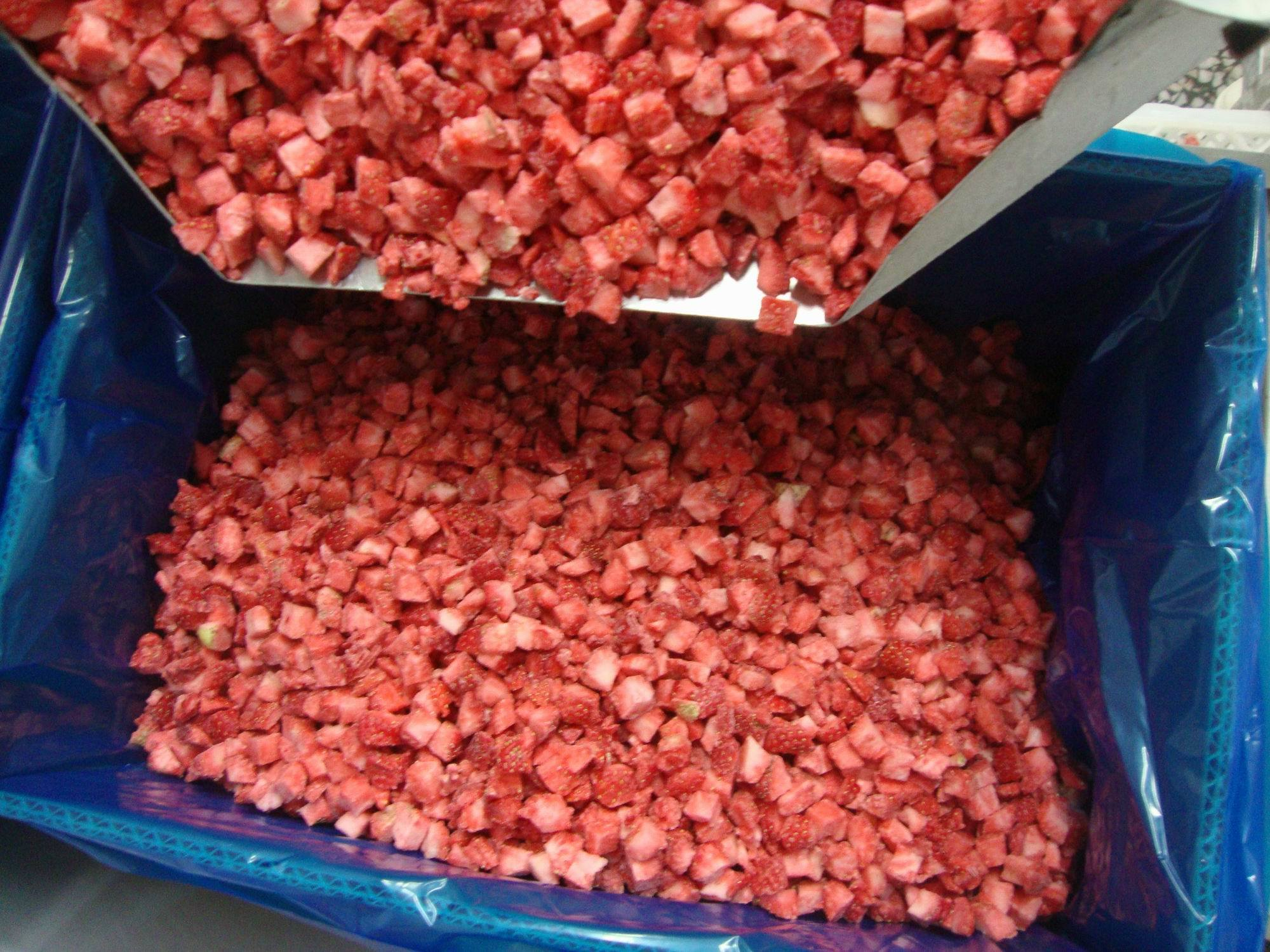 IQF Strawberry Dices or Frozen Strawberry Dices