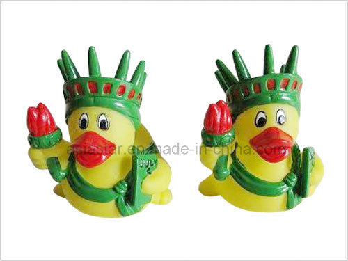 The Yellow Vinyl Duck with Green Crown