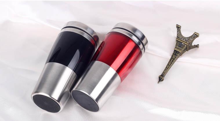 2017 New Promotional Premium Foodgrade Plastic Insulated Travel Vacuum Mug