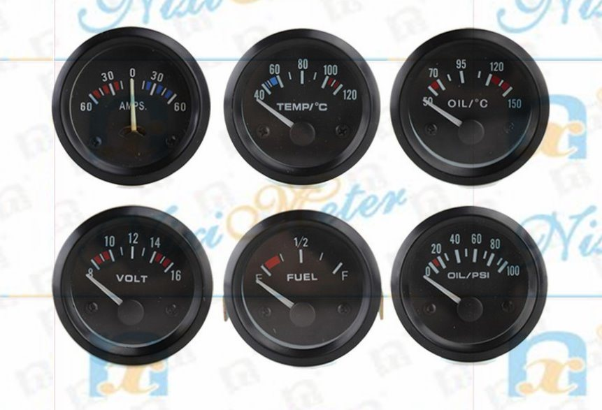 "2"" 52mm Water Temperature Gauge of Black Background"