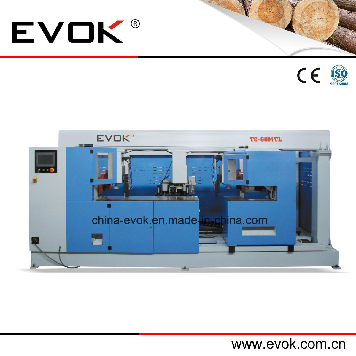 Intelligence Automatic Solid Wooden Door Stile Milling Machine Tc-60mtl