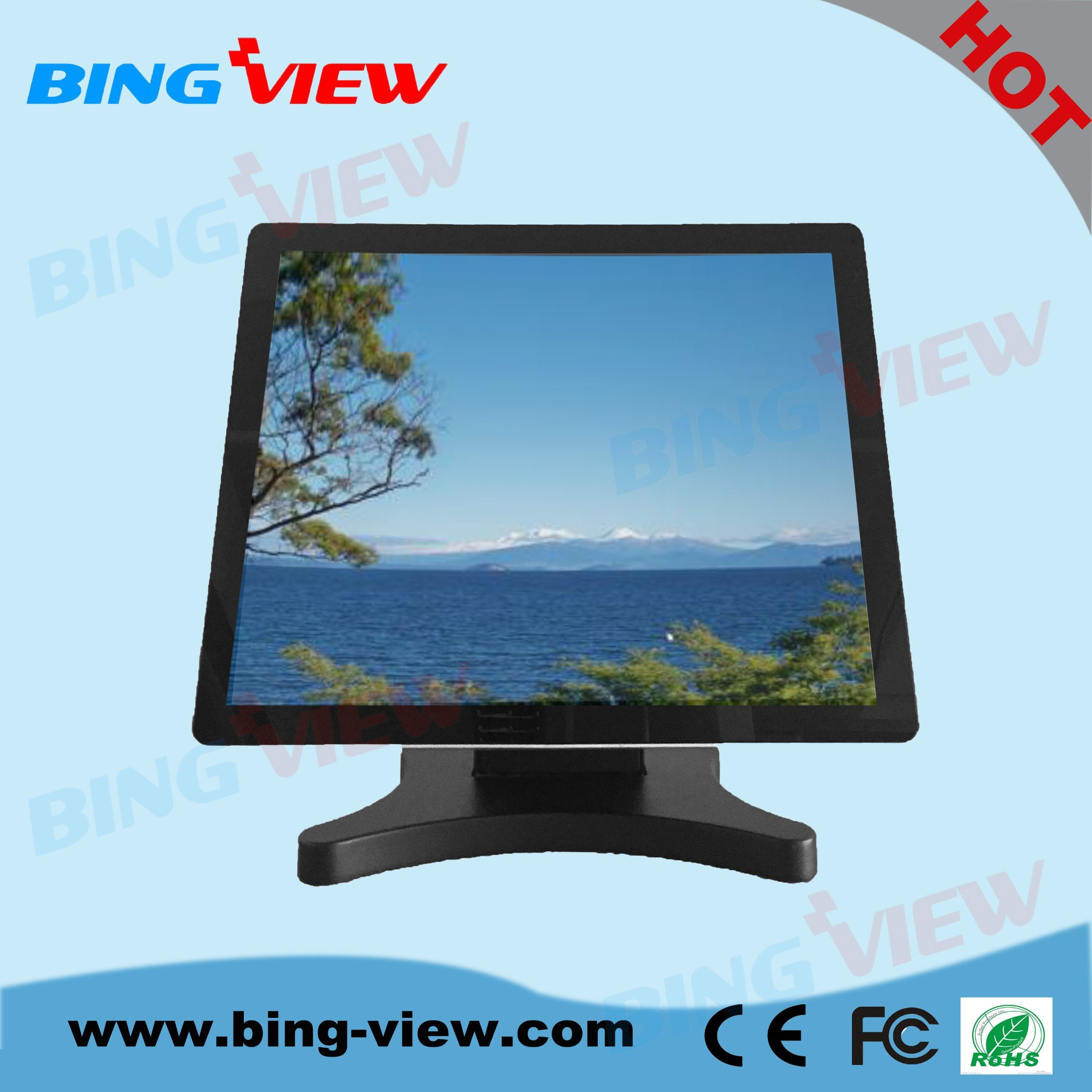 "17"" True Flat Design Commercial Pcap Payment System Touch Monitor Screen"