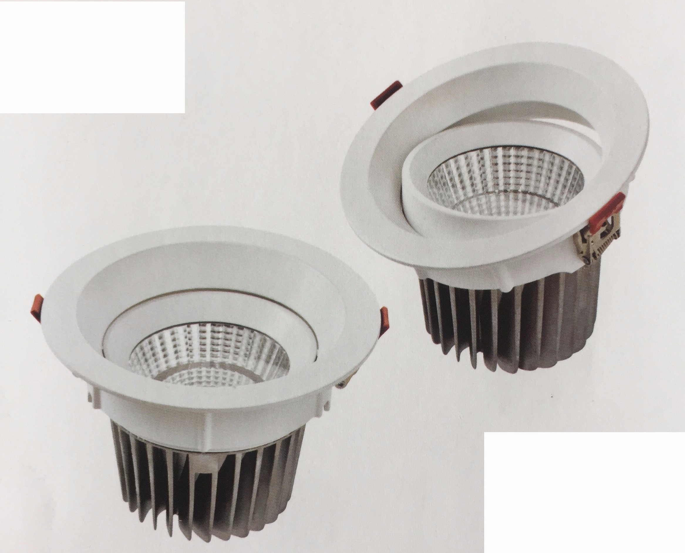 Die Cast Aluminum 16 Round Tilt Recessed LED Downlight COB