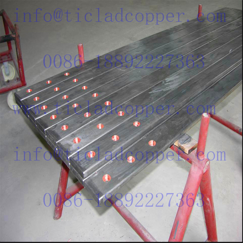 Titanium Clad Tu 2 Copper /Oxygen Free Copper Busbar for Galvanizing Lines