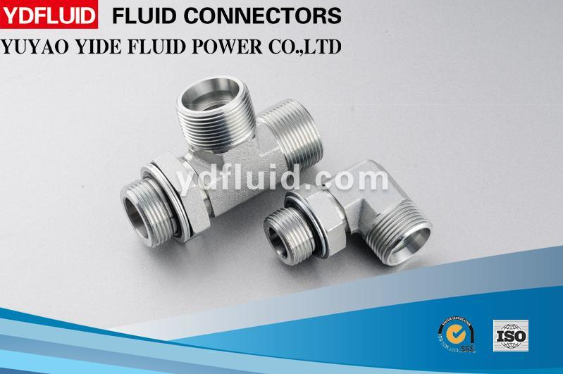 China Products Carbon Steel Hydraulic 3 Way Oxygen Tube Connector Pipe Fitting Names and Parts