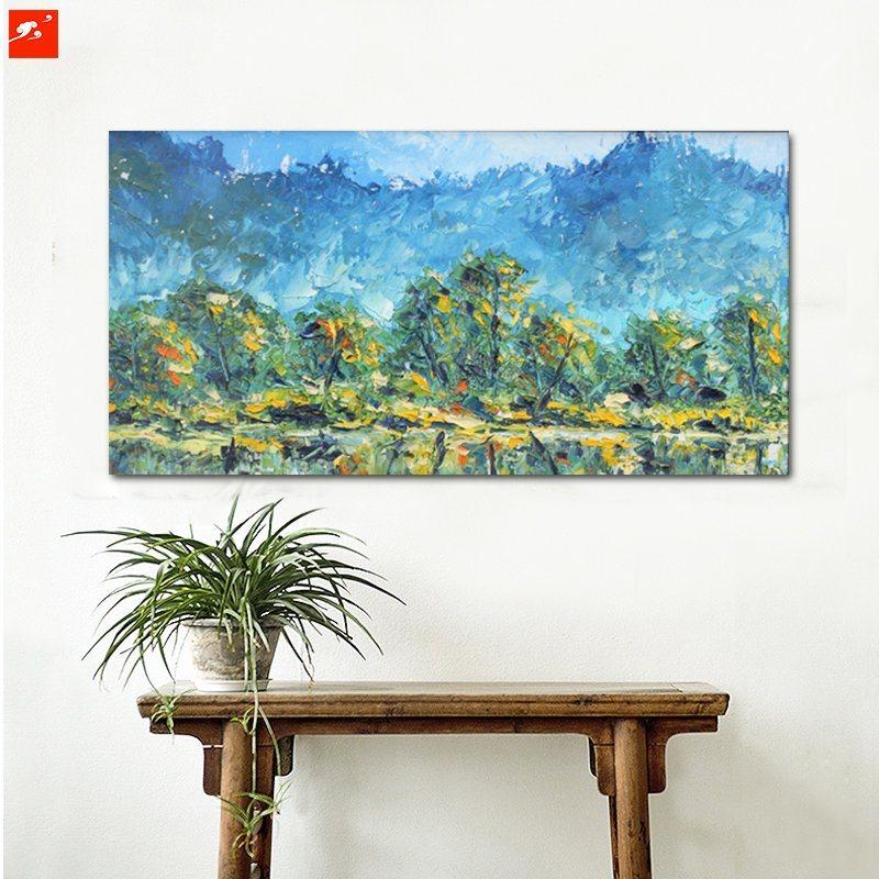 Impressionism Green Tree Wall Art Home Decoration