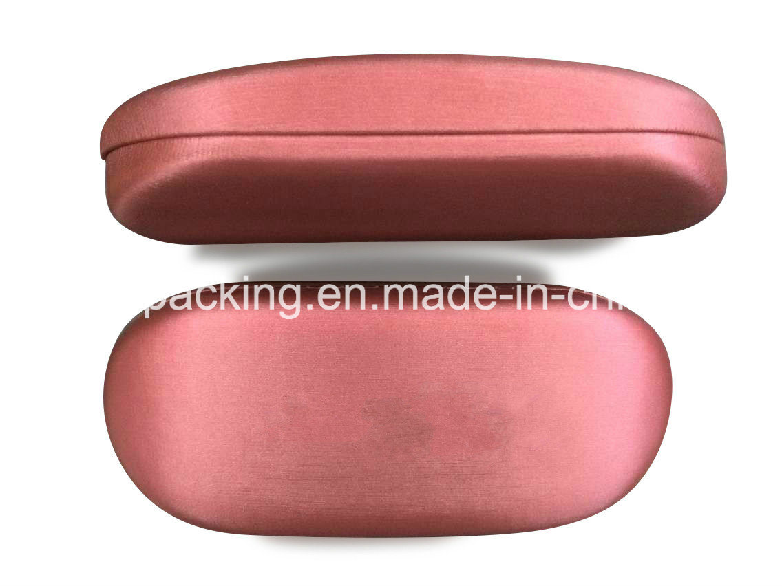 Iron Eyeglasses Case Covered Silk Leather in Various Color (SP5)