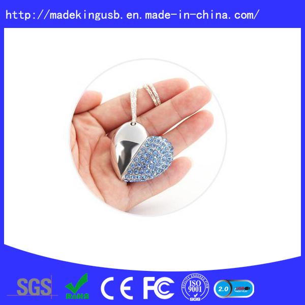 Diamond Heart Shape USB Flash Drive