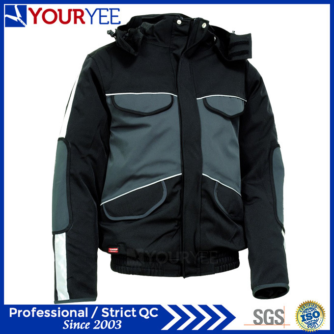 Popular Affordable Warm Waterproof Winter Jacket with Detachable Hood (YFS115)