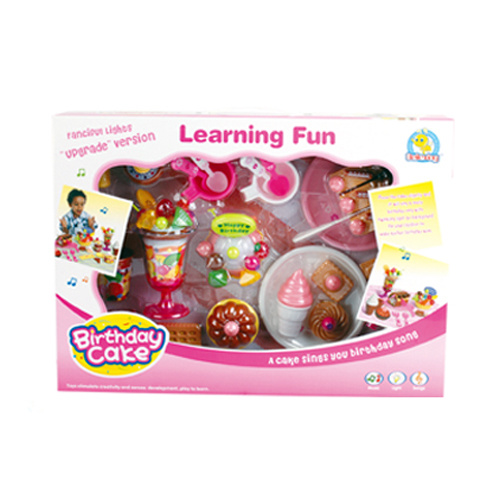 DIY Fruit Birthday Cake Toy Kids Kitchen Play Set (H0001189)