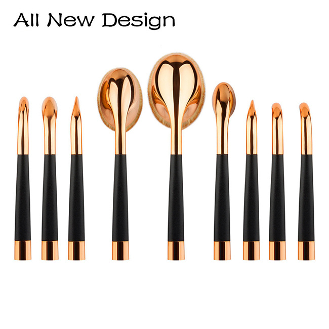 New Arrival 8 Pieces Luxury Golf Pipe Makeup Brush Set