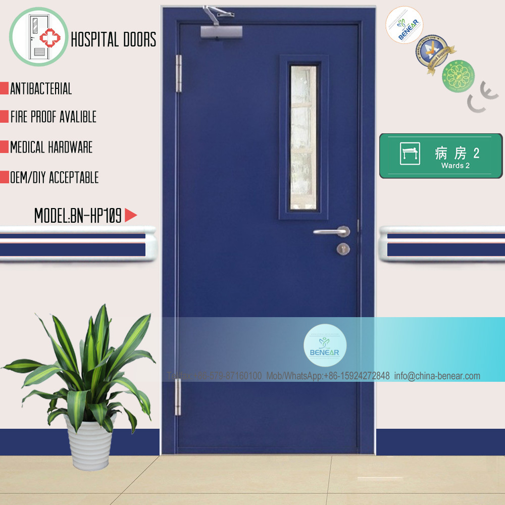China Fire-Rated Hospital Door Steel Security Medical Door (BN ...