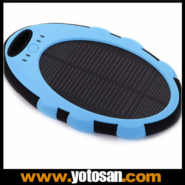 5000mAh Waterproof External Battery Solar Charger with Dual USB