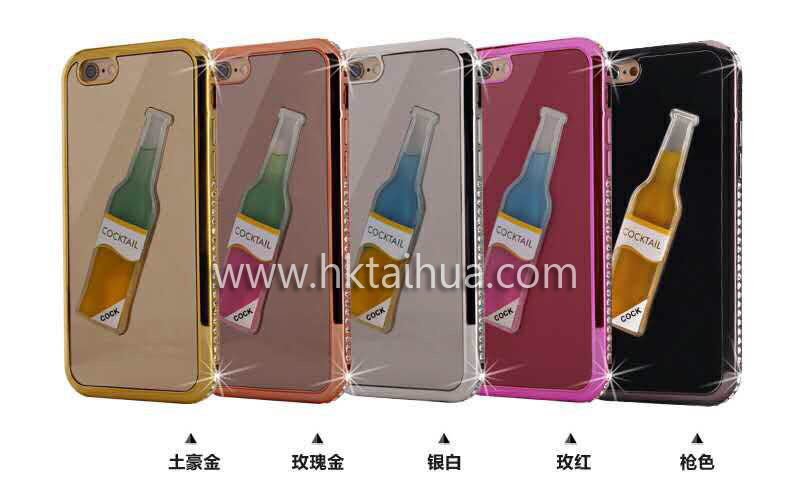 Newest Transparent Phone Case with Liquid Bottle