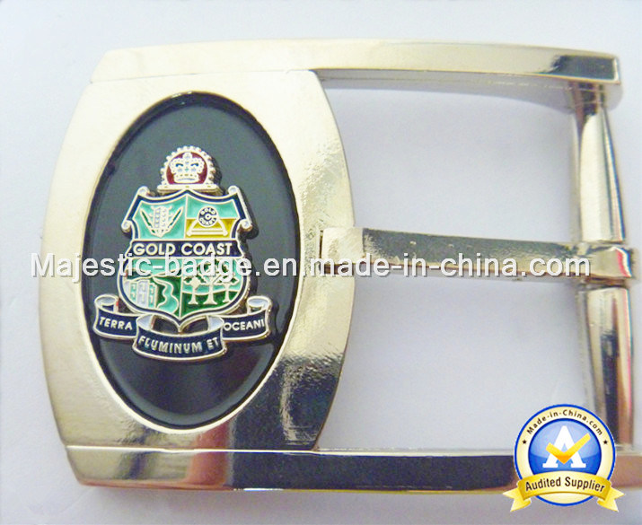 Customized Zinc Die Cast & Plating Silver Belt Buckle